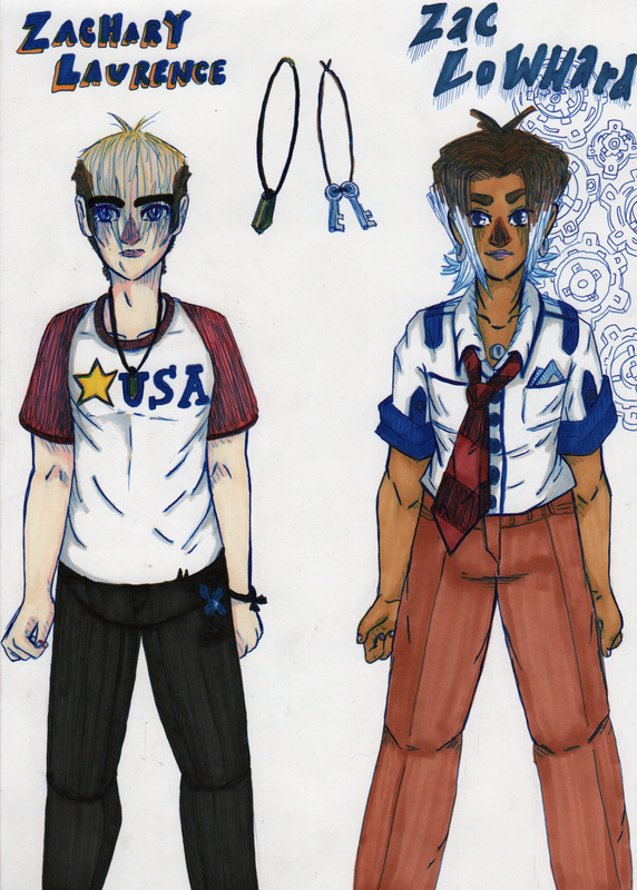 Character design from the comic Zac Lowhard for both Zac Lowhard and Zachery Laurence
